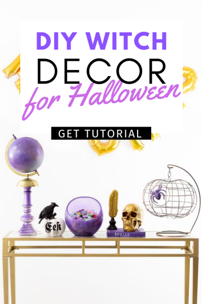 DIY Witch Decor for Indoors. SO easy and spooky.