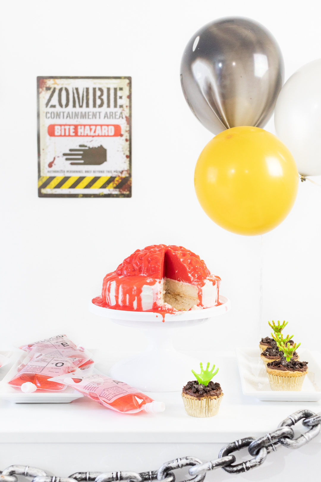 Simple Zombie Party Table