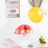 Zombie Party with Fog Machine.