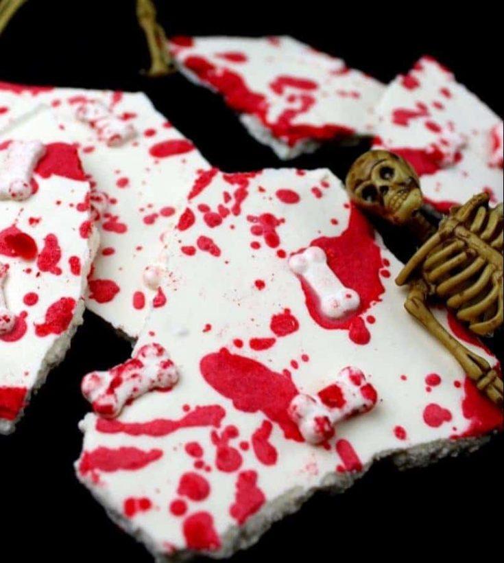 Halloween Bones Bark Recipe