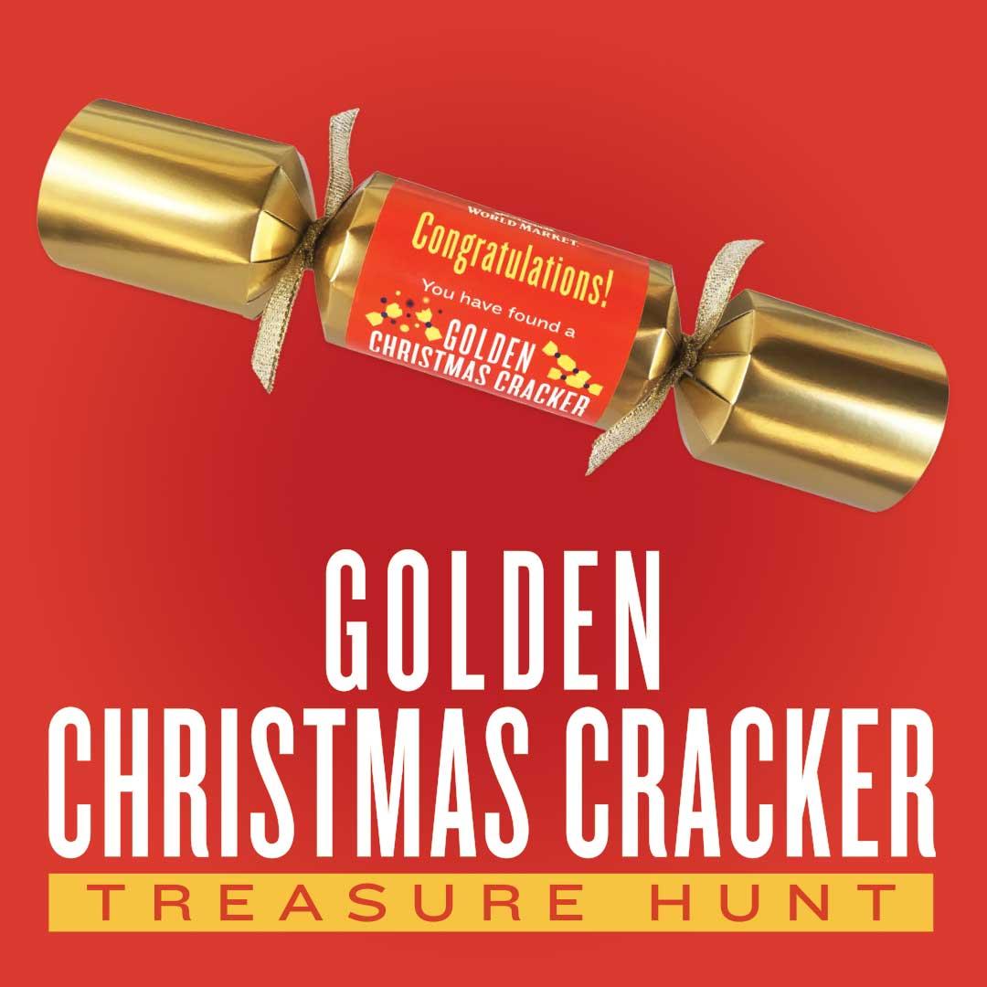 Cost Plus World Market Golden Christmas Cracker