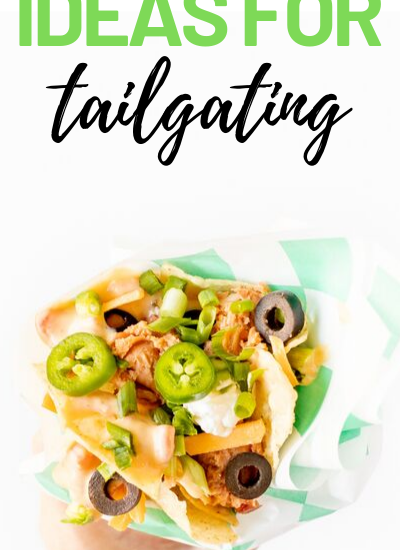Tailgating Nachos. Brilliant serving ideas that are easy to eat.