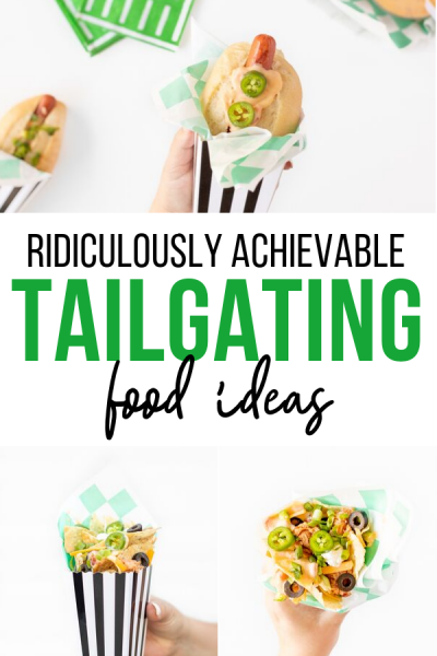Ridiculously achievable tailgating football ideas.