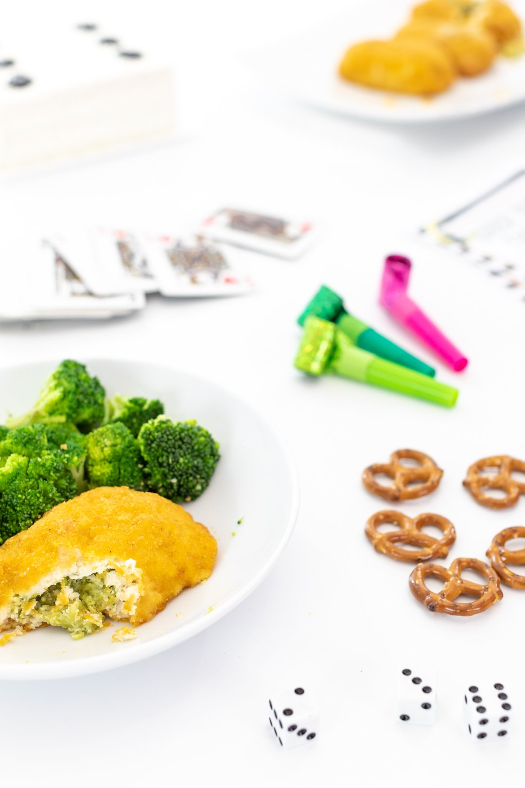 Breaded Chicken and Broccoli