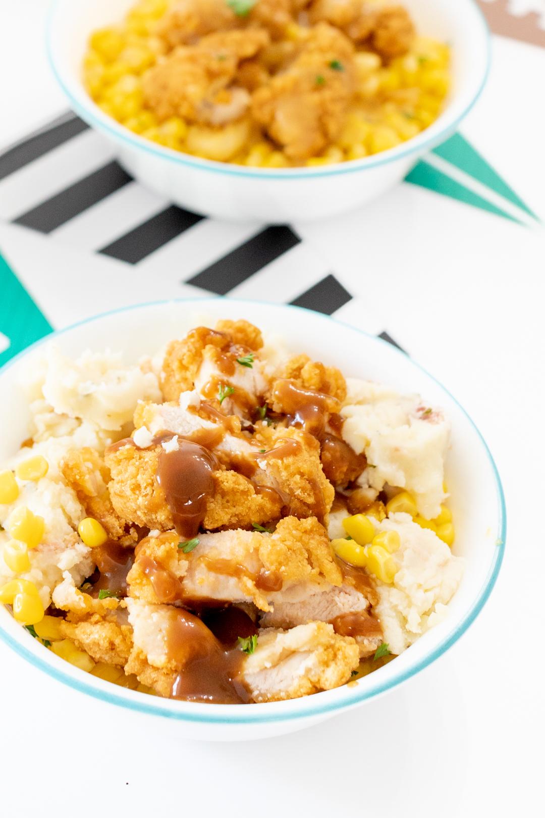 Crispy chicken bowls