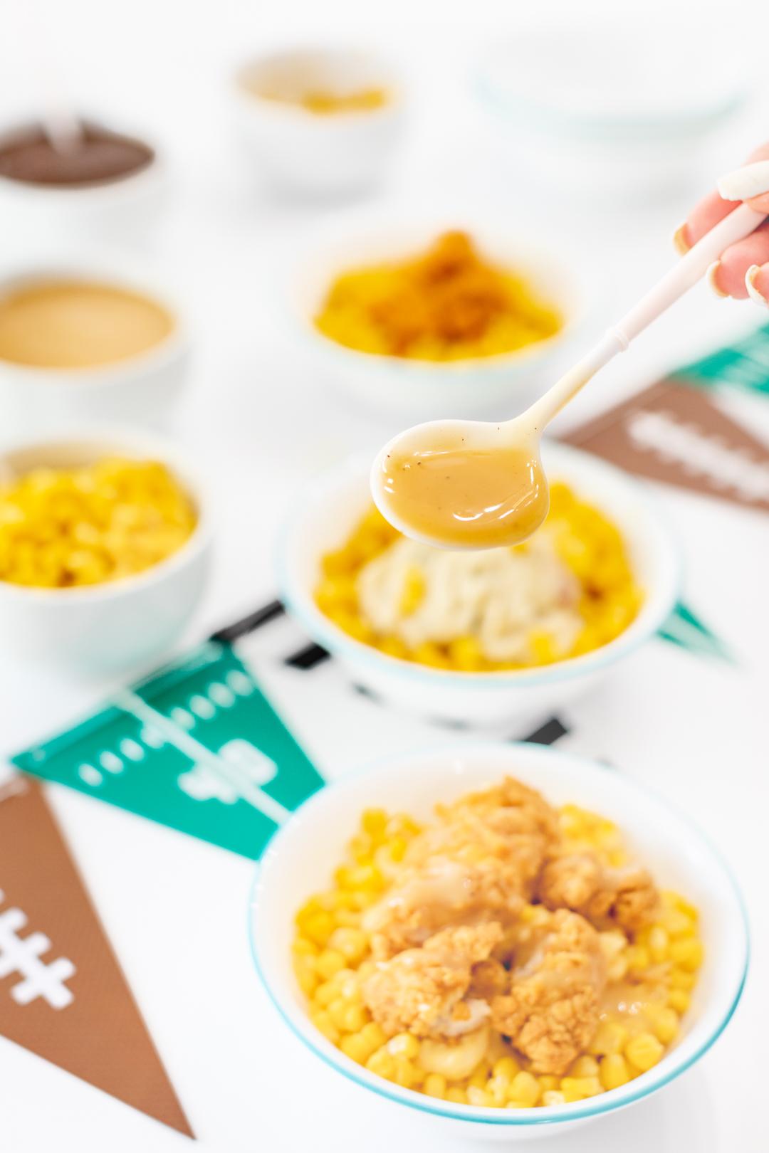 chicken bowls made with tyson crispy chicken