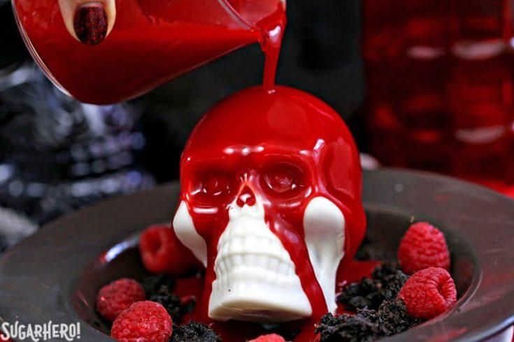 Melting Chocolate Skulls
