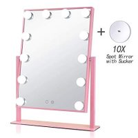 Pink Lighted Vanity Mirror Makeup Mirror