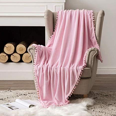 Pink Ultra Soft Fleece Blanket Luxurious