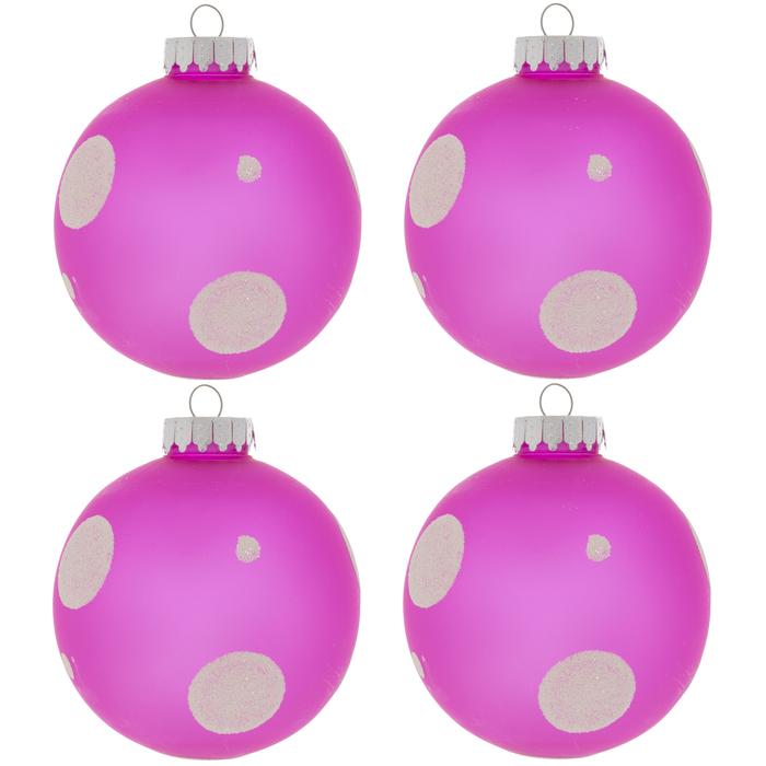 Pink & White Polka Dot Ornaments