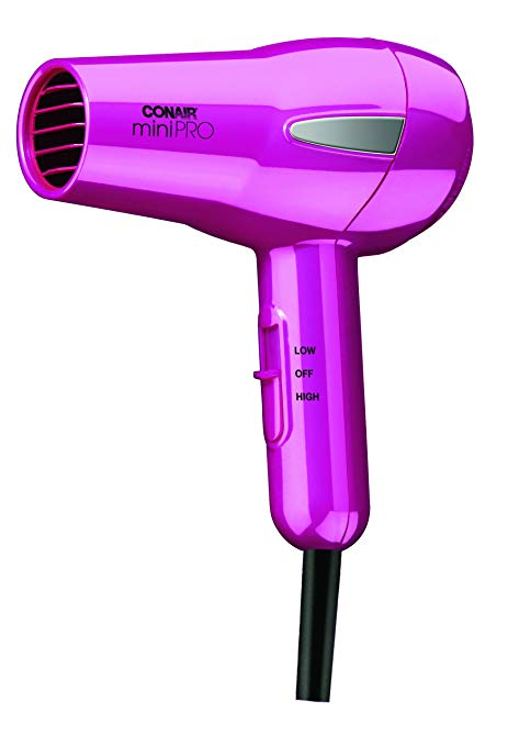 Pink Conair MiniPRO Tourmaline Ceramic Hair Dryer