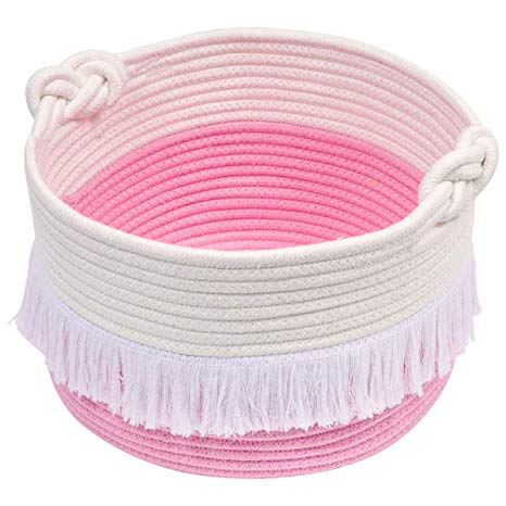Small Pink Rope Basket