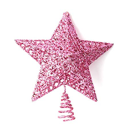 Pink Christmas Star Tree Topper
