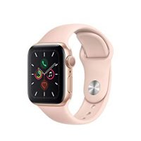 Apple Watch 5 Gold Aluminum Case w/ Pink Band