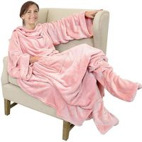Pink Wearable Fleece Blanket