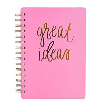 Great Ideas Pink Spiral Notebook