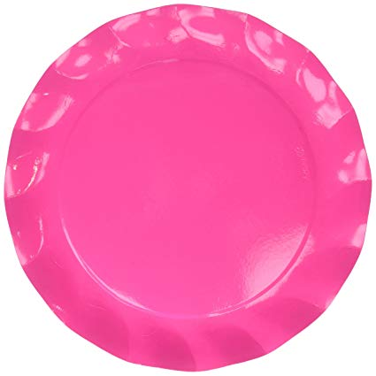 Pink Paper Charger Plates