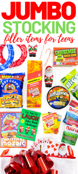 jumbo stocking fillers from snacks to games