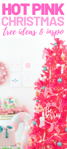 Hot Pink Christmas Tree Decor, Ideas and Inspo.