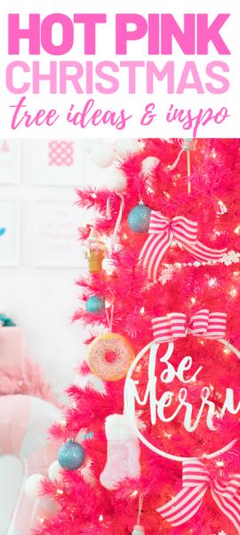 Pink Christmas Tree Design, Decor and inspiration.