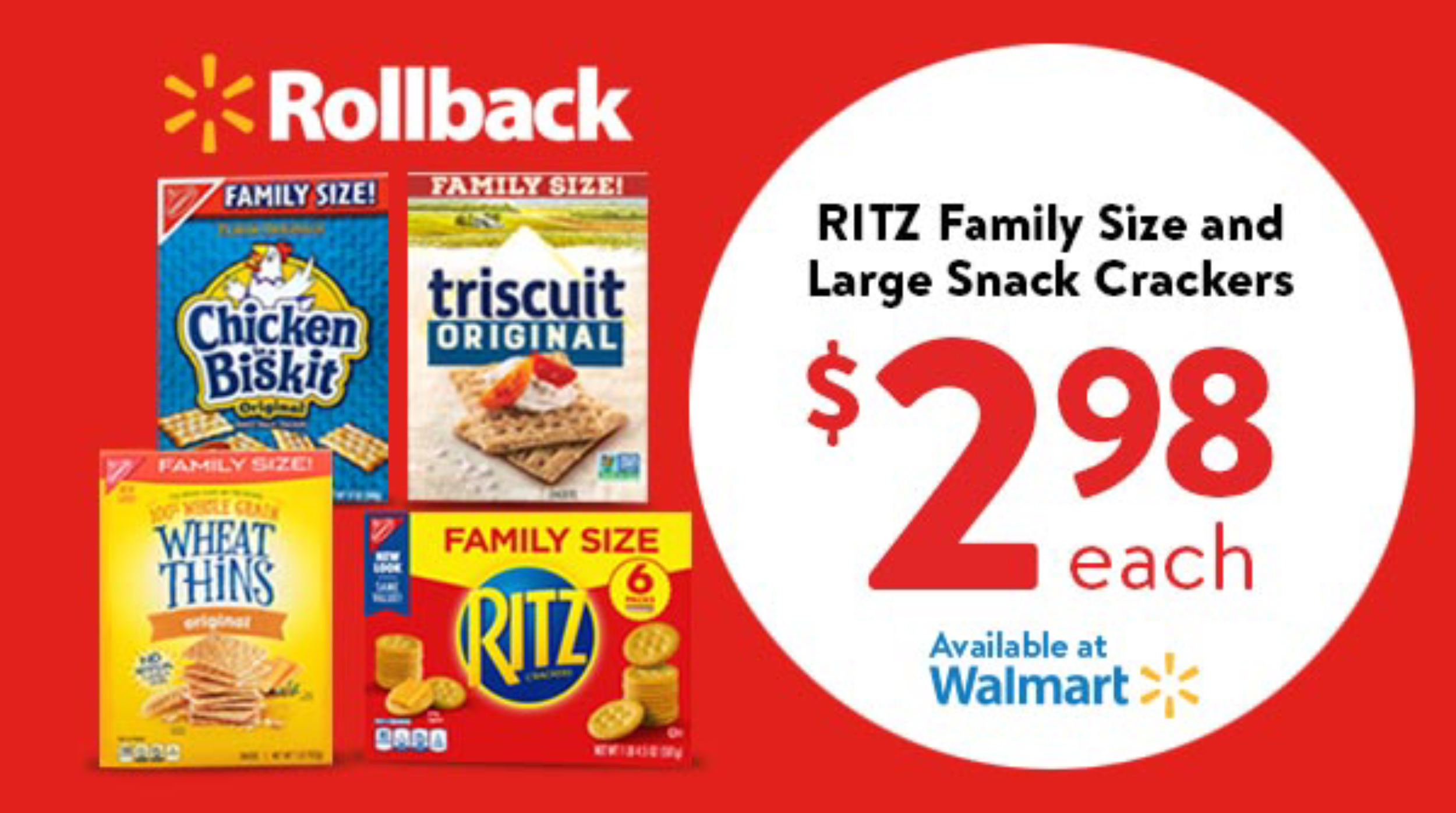 rollback offer at walmart on crackers.