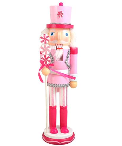 Pink Nutcracker Christmas Figure