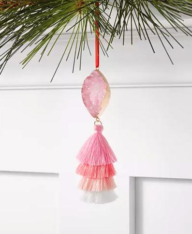Pink Tassel Ornament
