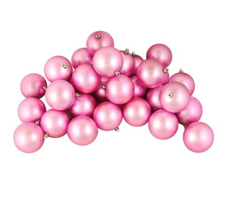 Matte Bubblegum Pink Shatterproof Ornaments