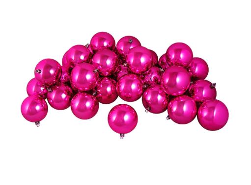 Shiny Pink Magenta Shatterproof Ornaments