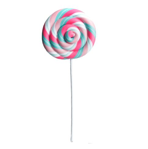 White, Pink & Teal Lollipop Pick