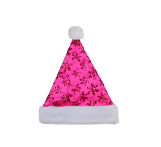 Sequin Snowflake Santa Hat