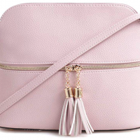 Dome Crossbody Bag with Tassel