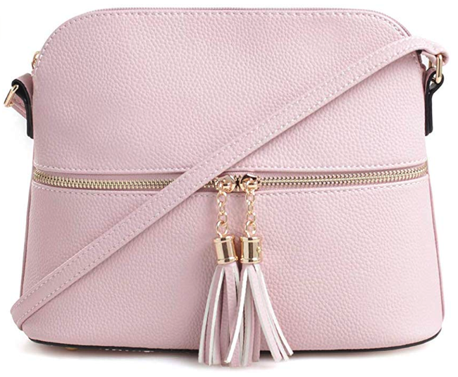Dome Crossbody Bag with Tassel