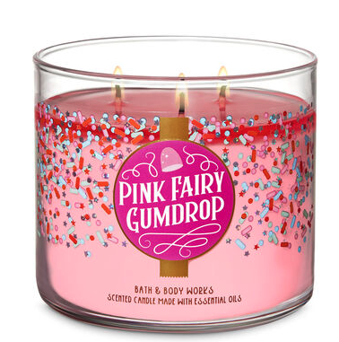 Pink Fairy Gumdrop Candle
