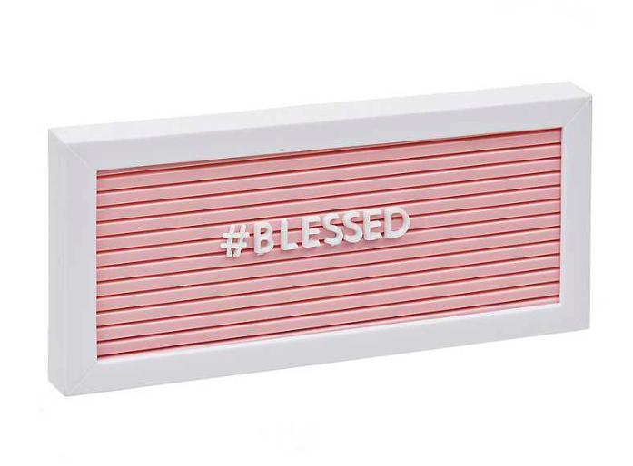 Pink Framed Peg Letter Board