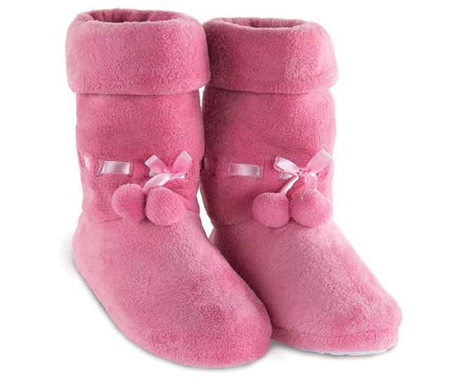 Pink Slipper Boots for Women