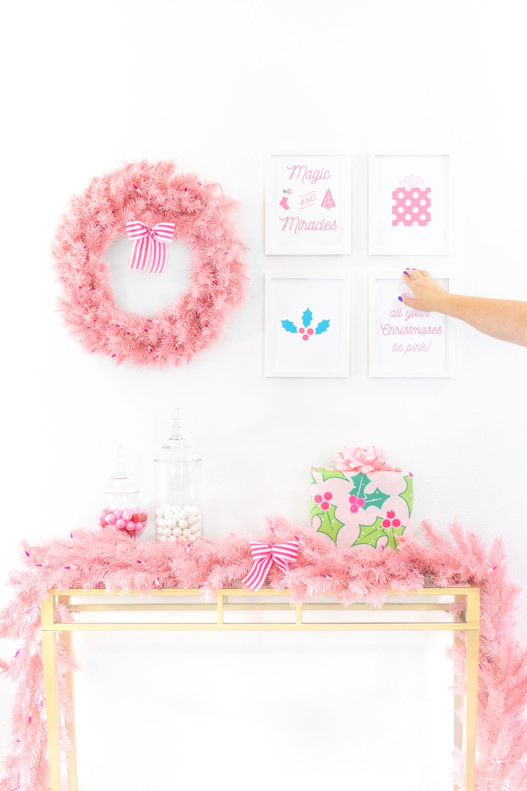 sharing how to hang wall art