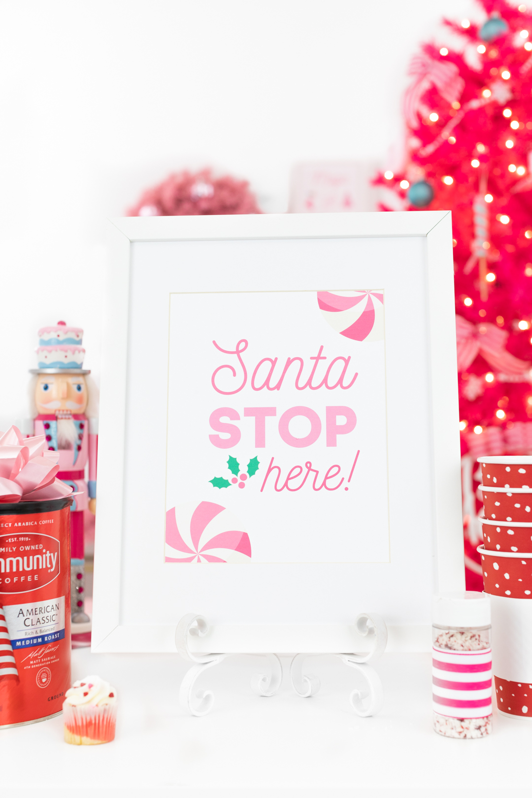 Santa Stop Here Printable Sign