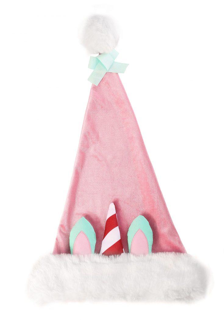 Ugly Holiday Unicorn Santa Claus Hat