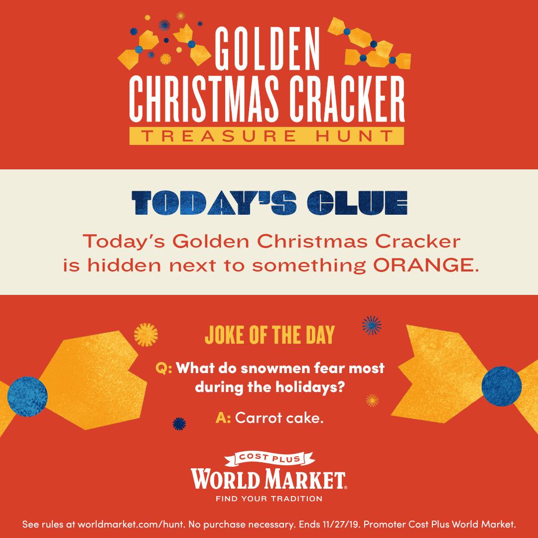 Todays Golden Cracker Clue