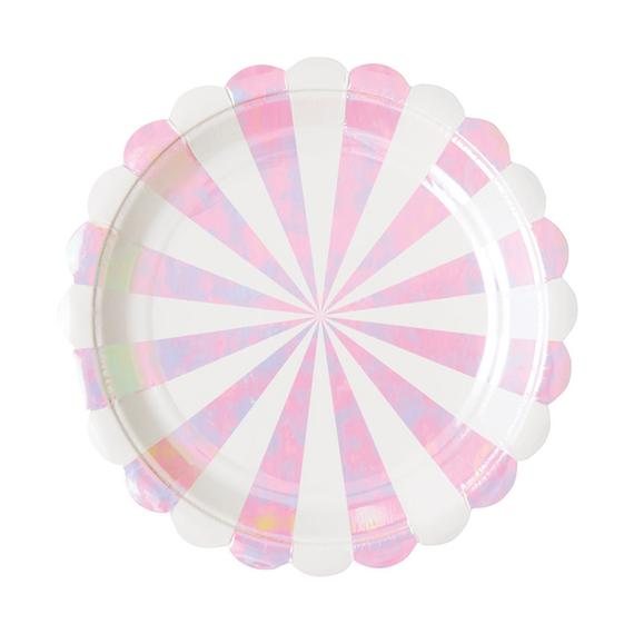 Iridescent Striped Plate (Large)