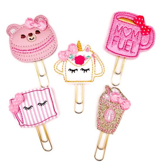 Cute Pink Planner Paper Clips