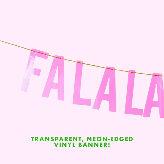 Pink Falalalala Banner