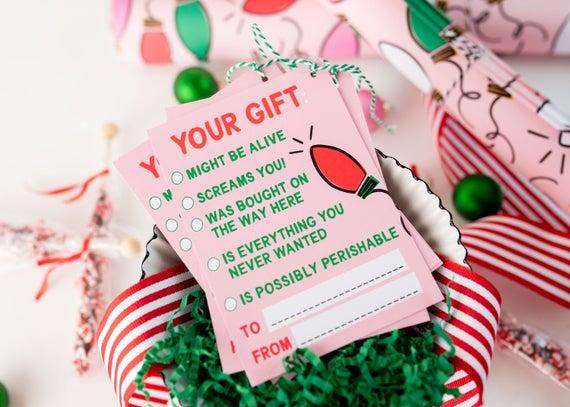 Hilarious Christmas Gift Tags