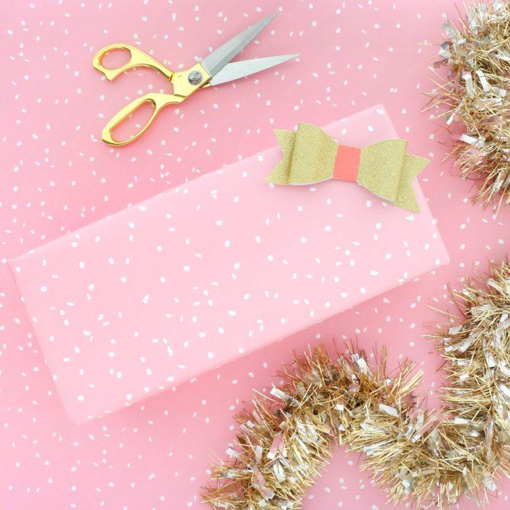 Pink Snowfall Gift Wrap