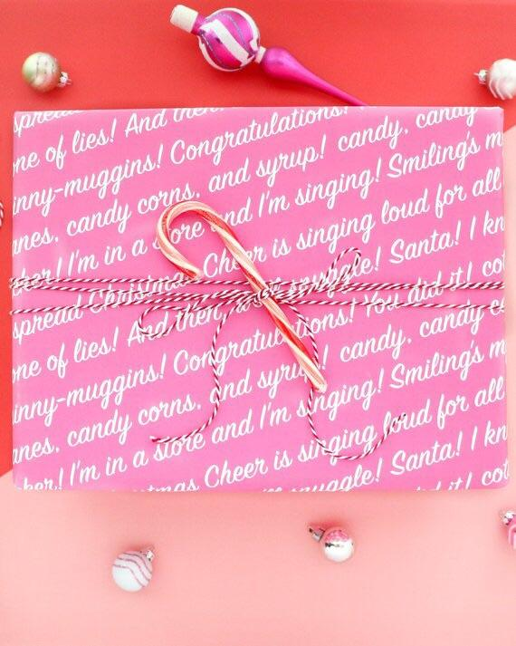 Elf Quote Christmas Wrapping Paper