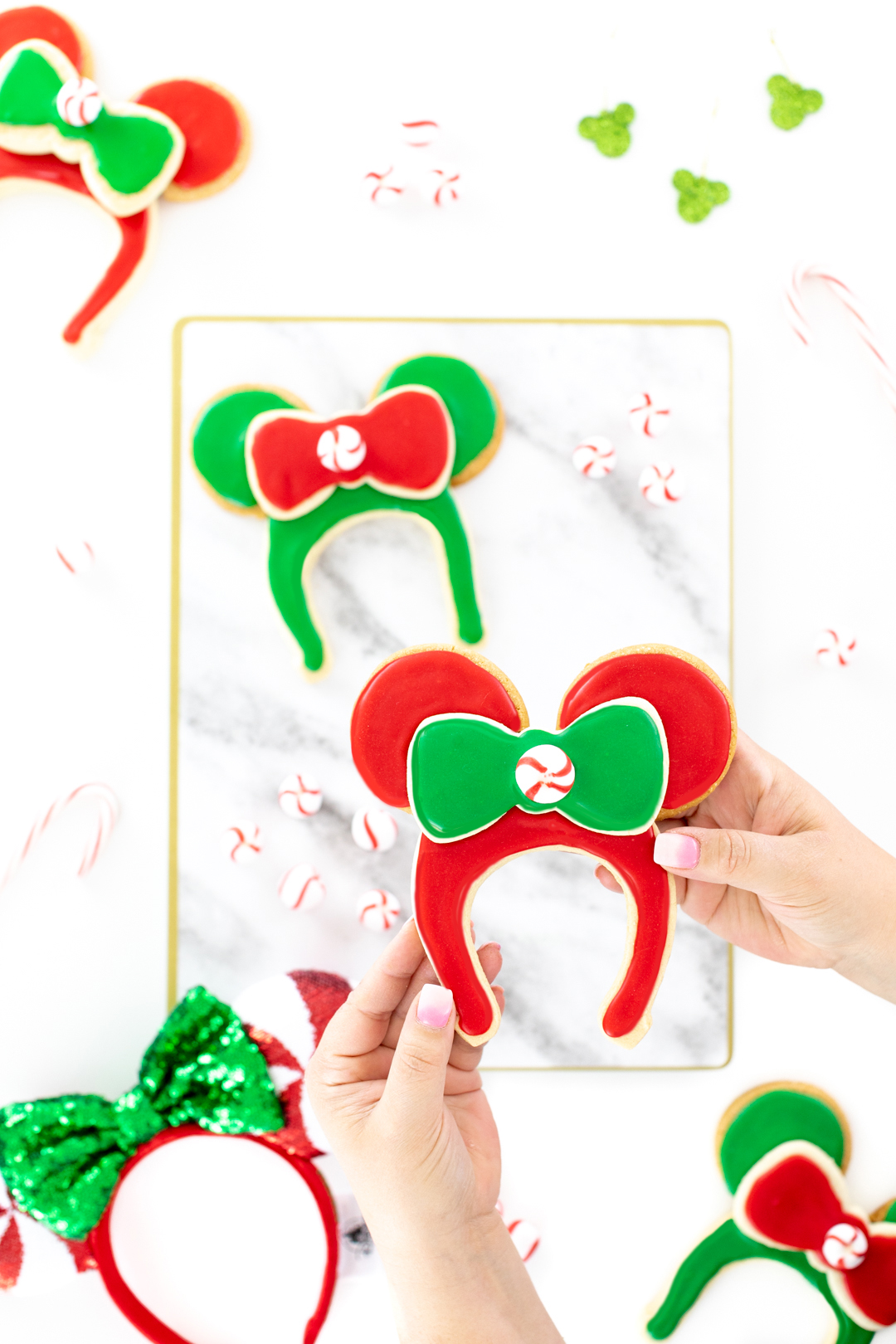Christmas Minnie and Mickey Cookies
