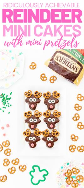 Cute reindeer mini cakes