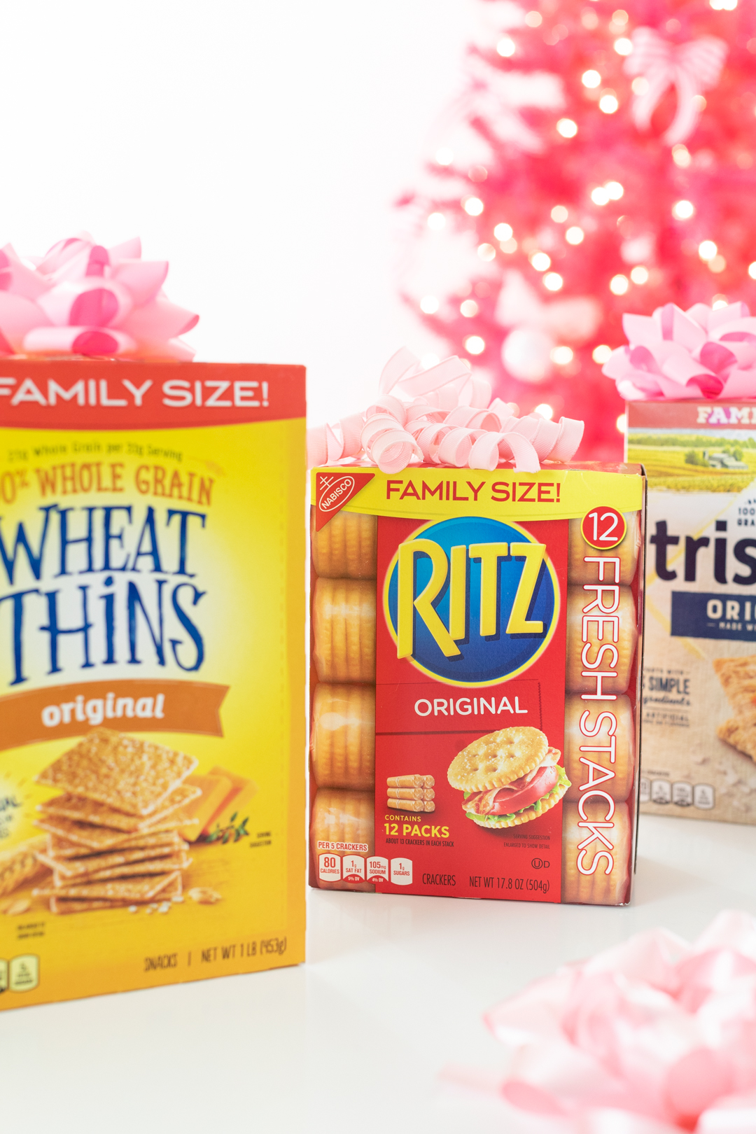 Family Sized Boxes of Wheat Thins, Ritz and Triscuits