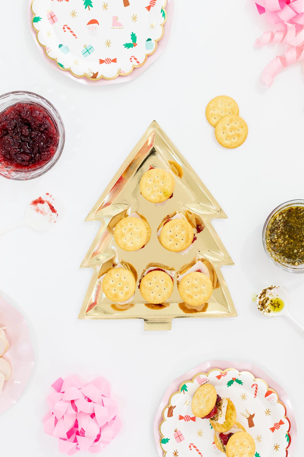 Cracker Sandwich Appetizer spread